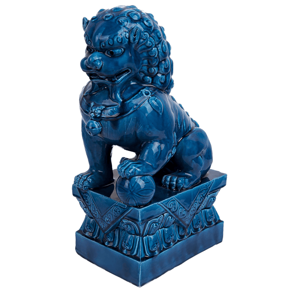 Colbalt blue oriental Dog statue | Home accessories & decor, Perth WA