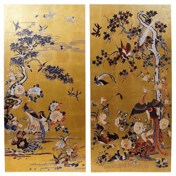 Japanese style gold chinoiserie art set of 2 canvasses | Artworks, canvasses and art | Homeware - Perth, WA