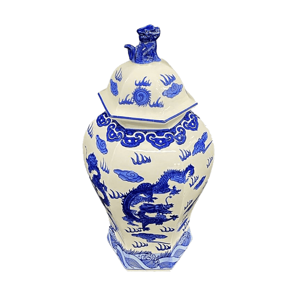 Oriental style blue and white template Jar | Decorative Home Accessories - Perth WA