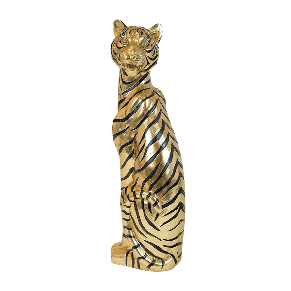 Black and gold Bengal tiger statue | Home accessories and ornaments - Perth WA