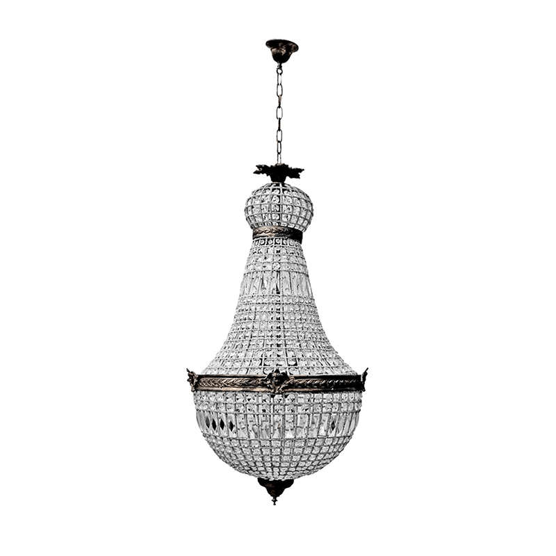 Empire Style brass & glass chandelier | Pendant lighting Perth WA