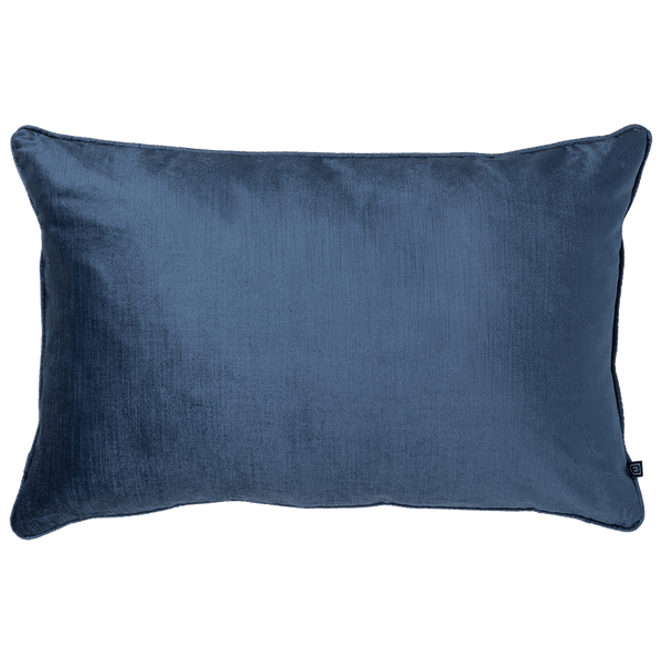 Roma Velvet Rectangle Cushion Denim | Velvet cushions, luxury cushion - Perth, WA