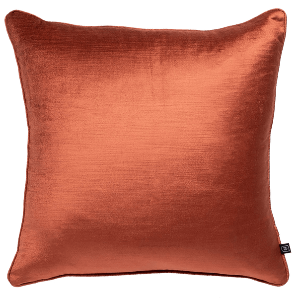 Velvet cushion in a brick/clay/terracotta colour | Luxury Home Accessories - Perth, WA