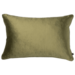Mavis velvet cushion in moss green colour, 40x60cm | Luxury Home Accessories - Perth, WA