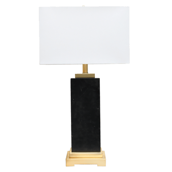 Arrival Table Lamp - Black & Marble