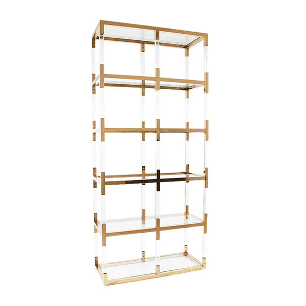 Acrylic cubed shelving unit / display unit with gold edging/framing | Bookcases & display units Perth WA