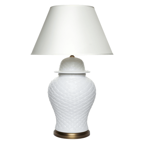 White gloss porcelain table lamp base with round brass base plate | Table & desk lamps, Perth WA