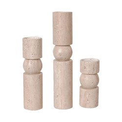 Cylindrical natural stone candle holders | Candles, Hurricanes and accessories - Perth WA