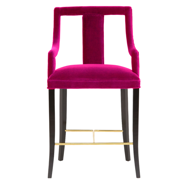 Hot pink velvet bar stool | Luxury Seating & Stools - Perth WA