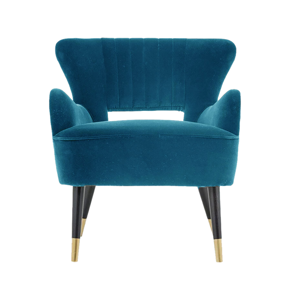 Azure blue velvet blue arm chair | Luxury seating and chairs Perth WA | By Natalie Jayne Interiors