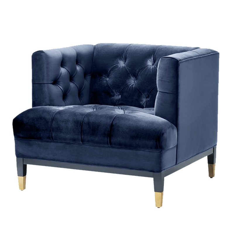 Navy Blue velvet chesterfield style armchair  | Luxury occasional & armchairs Perth WA | By Natalie Jayne Interiors