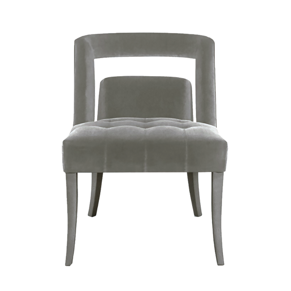 Silver/grey velvet chair | Luxury armchairs & occasional chairs Perth WA | By Natalie Jayne Interiors