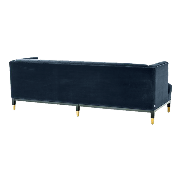 Navy blue velvet chesterfield style 3 seater sofa | Luxury seating, lounges & couches Perth WA | By Natalie Jayne Interiors