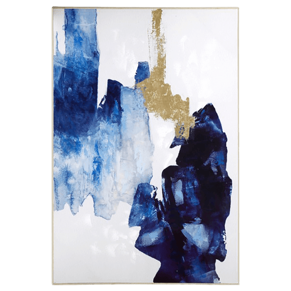 Blue and white abstract art with gold foil detailing | Homewares and art | Perth, WA
