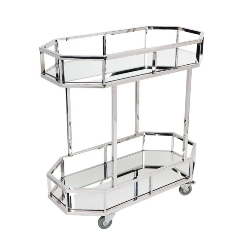 Townhouse Drinks Trolley - Silver