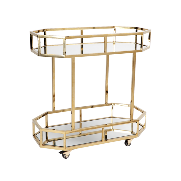 Townhouse Drinks Trolley - Gold