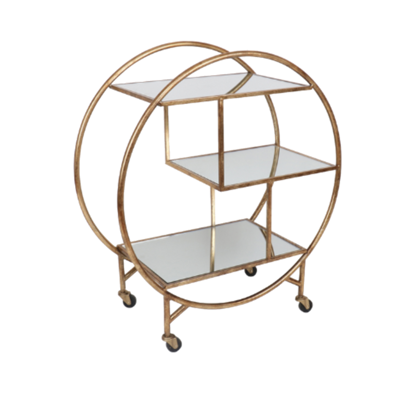 Deco Bar Trolley - Gold