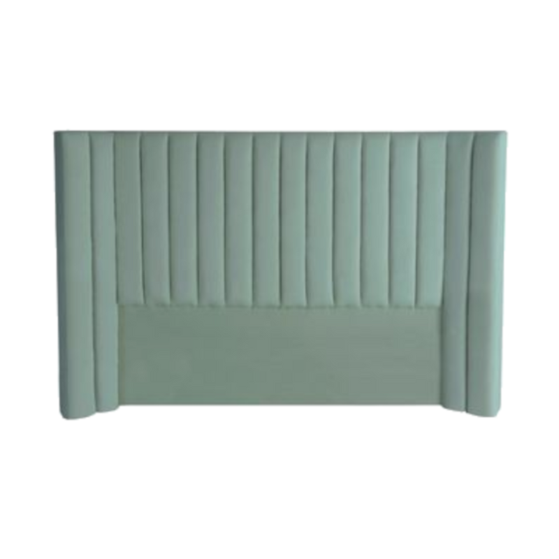 Panema Panelled Bedhead - Sea Green