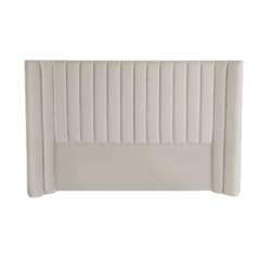 Panema Panelled Bedhead - Natural Grey