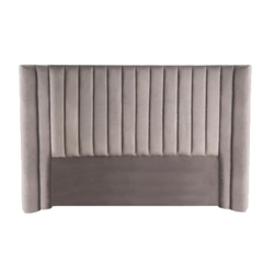 Panema Panelled Bedhead - Charcoal