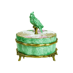 Antique porcelain style birdie trinket box | Luxury decorative accessories Perth WA