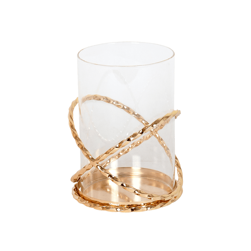 Banks Twisted Gold Hurricane | Candle Holders - Perth WA