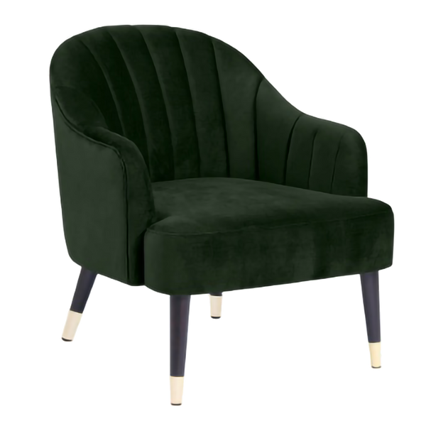 Cayman Velvet Chair - Green Moss