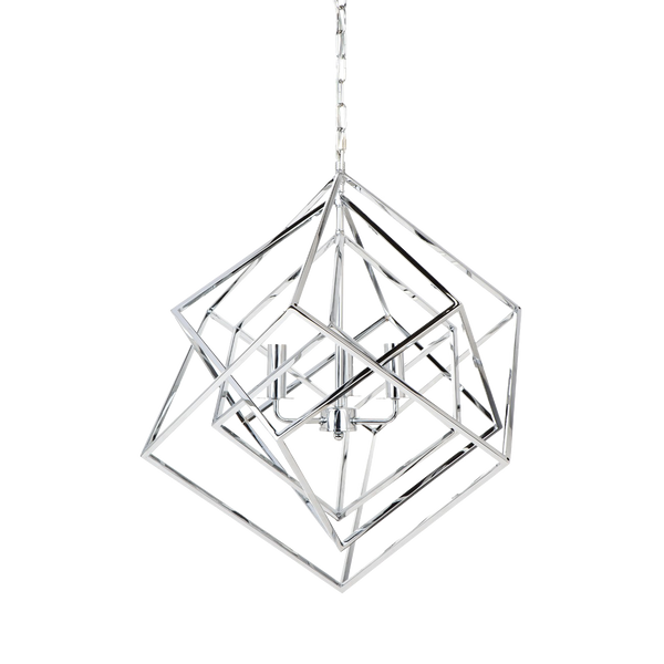 Cubist Pendant Medium - Chrome