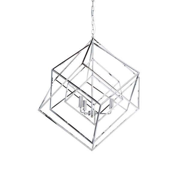 Cubist Pendant Large - Chrome