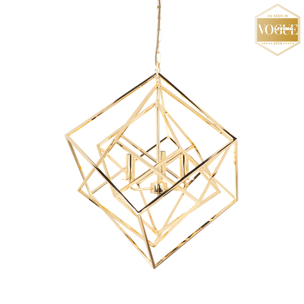 Geometric gold ceiling light | Ceiling lights and pendants - Perth, WA