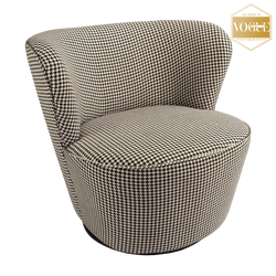 Boston Swivel Chair - Houndstooth | Coco Swivel chair | Luxury Furniture, Perth WA