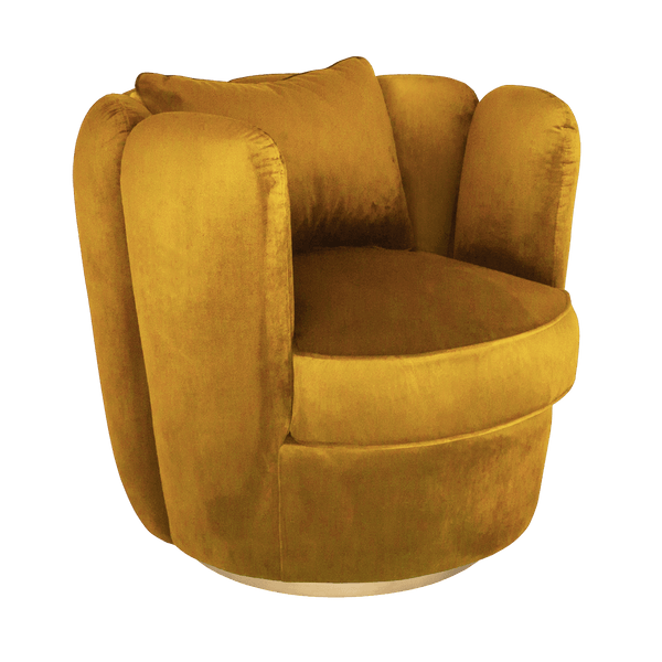 Tulip Swivel Chair in Vintage Marigold | Darcy & Duke furniture Perth WA
