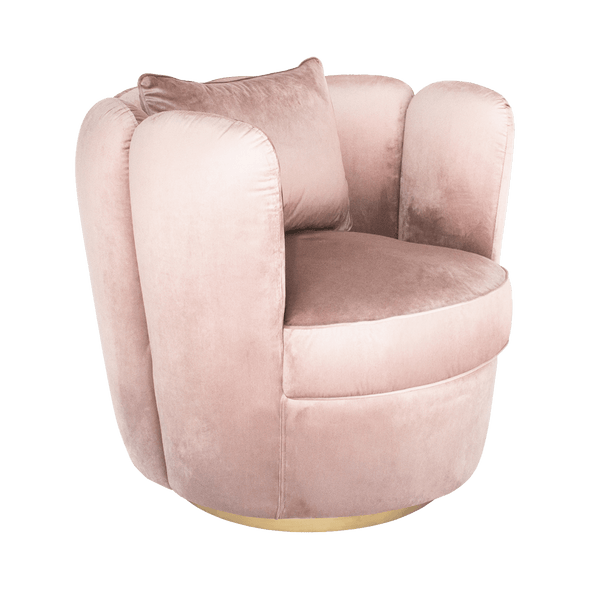 Tulip Swivel Chair - Rosewater | Darcy & Duke furniture / stockist Perth WA