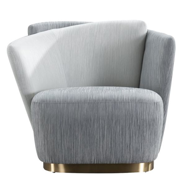 Maja Occasional Chair - Grey with Gold Base