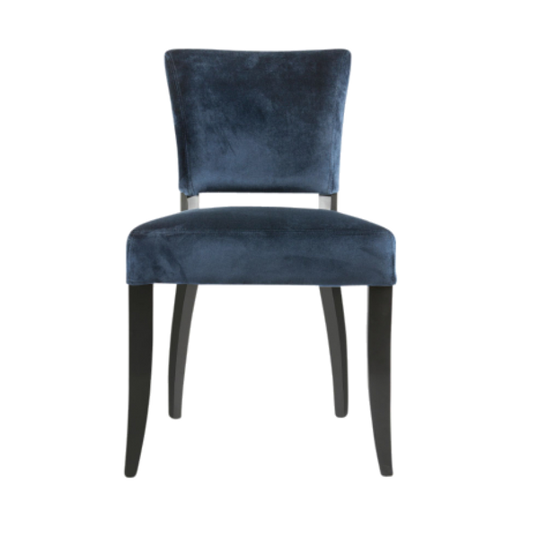 Adonia Dining Chair Dark Blue with Gold Trim