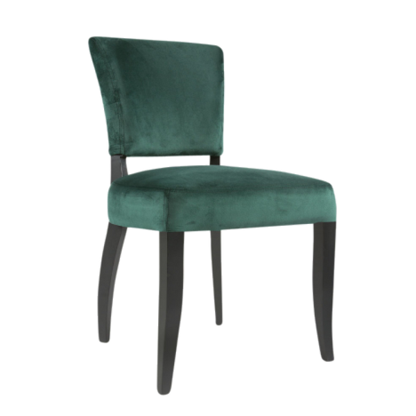 Adonia Dining Chair Dark Green with Gold Trim