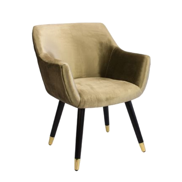 Townhouse Chair - Gold Velvet
