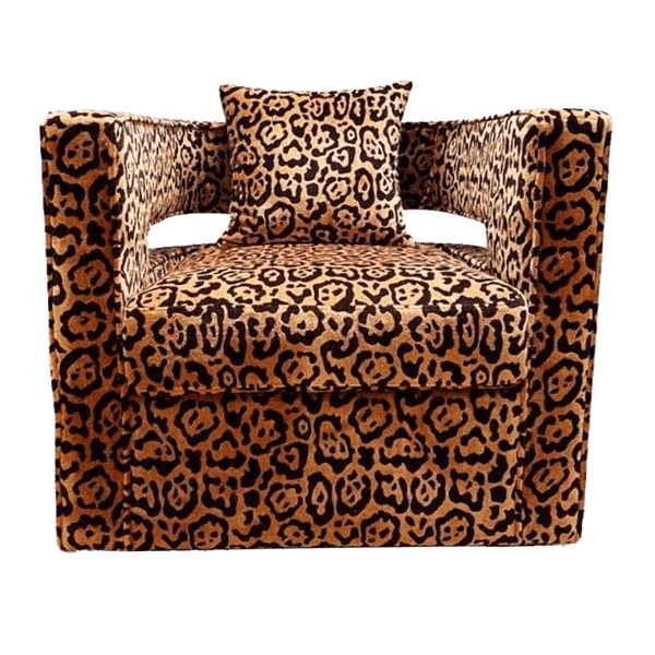 Leopard Print Swivel Chair / Seat | Daqua | Luxury Seating Perth WA