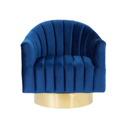 Veritas Panelled Occasional Chair - Royal Blue