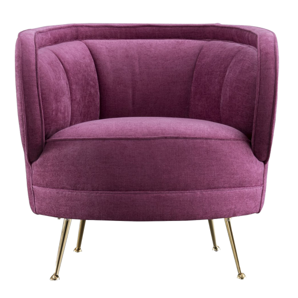 Orion Linen Occasional Chair - Magenta