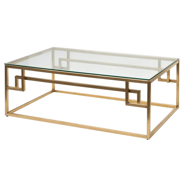 Brushed gold art deco inspired coffee table | Luxury coffee and side tables - Perth WA