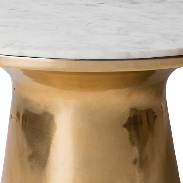 Round brass & white marble coffee table | Luxury coffee & side tables, Perth WA