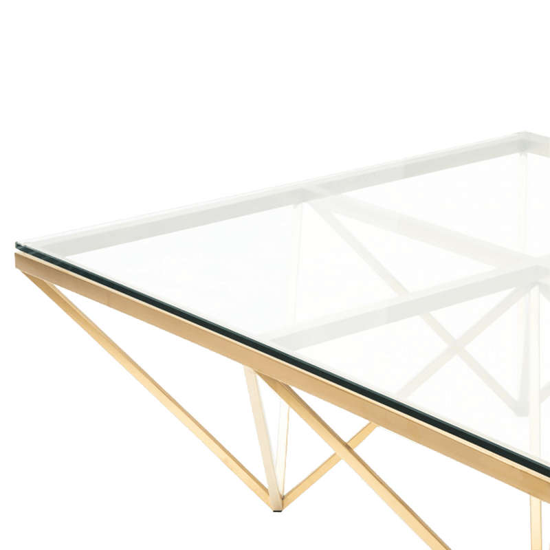 Square geometric gold frame coffee table | Luxury coffee & side tables, Perth WA