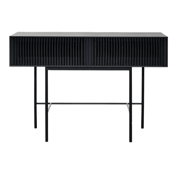 2 Drawer Wooden Console Table | Black oak veneer | Luxury buffets, cabinets & console tables - Perth WA