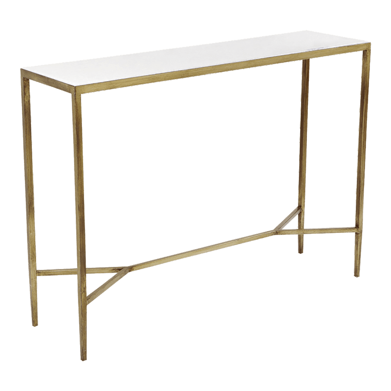 Gold & white marble console | Console tables & buffets, Perth WA