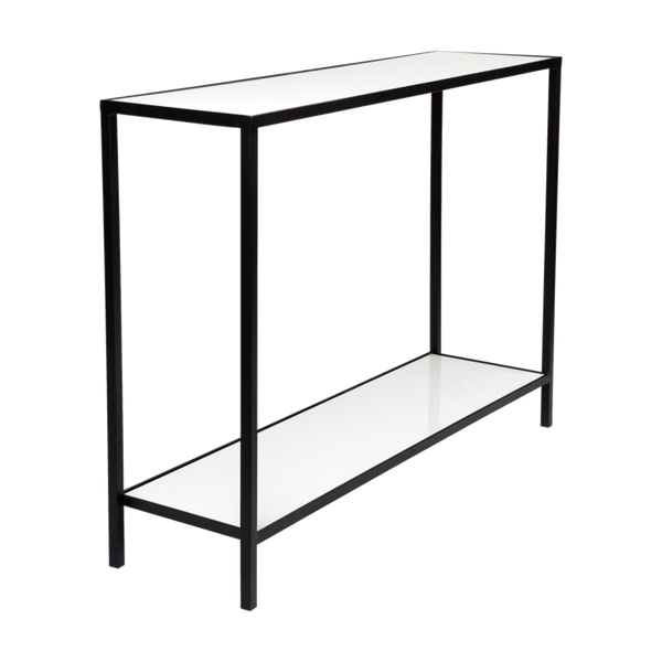 White marble console with black frame | Luxury consoles & buffets, Perth WA