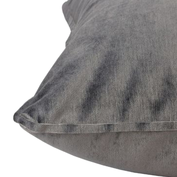 Velvet Cushion - Smoked Grey