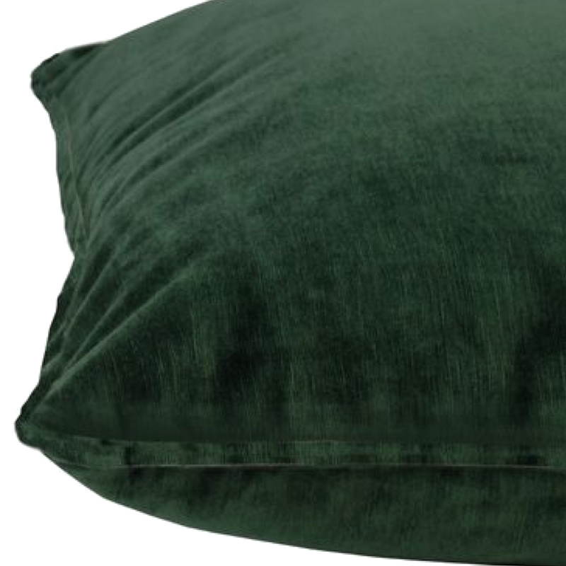 Velvet Cushion - Ivy Green