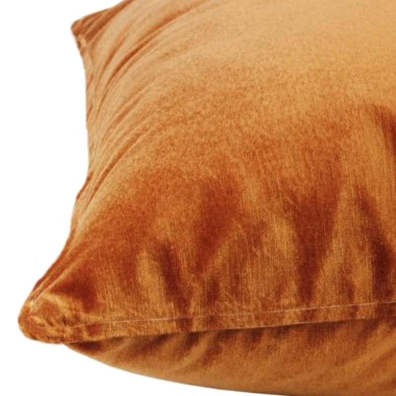 Velvet Cushion - Mandarin