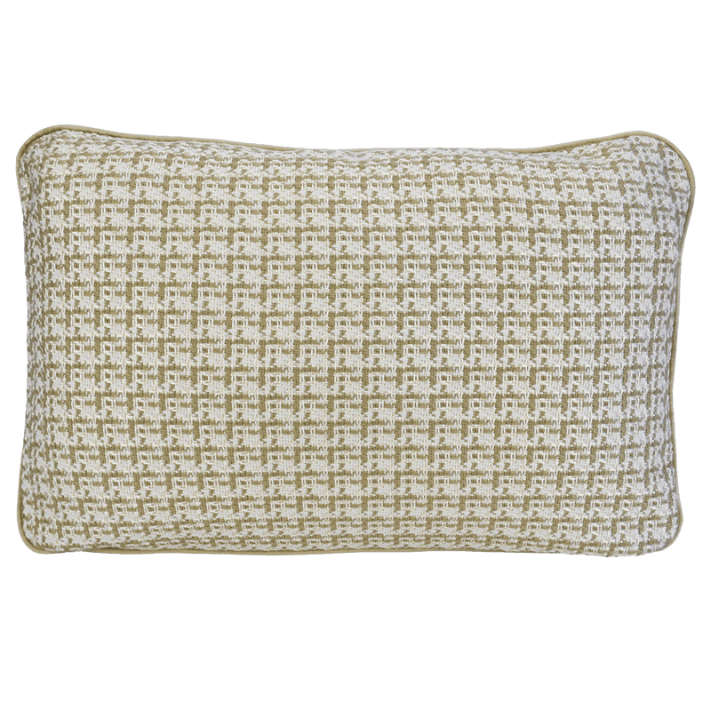 Coco Piped Cushion - Ivory Tweed - Darcy & Duke | Perth WA